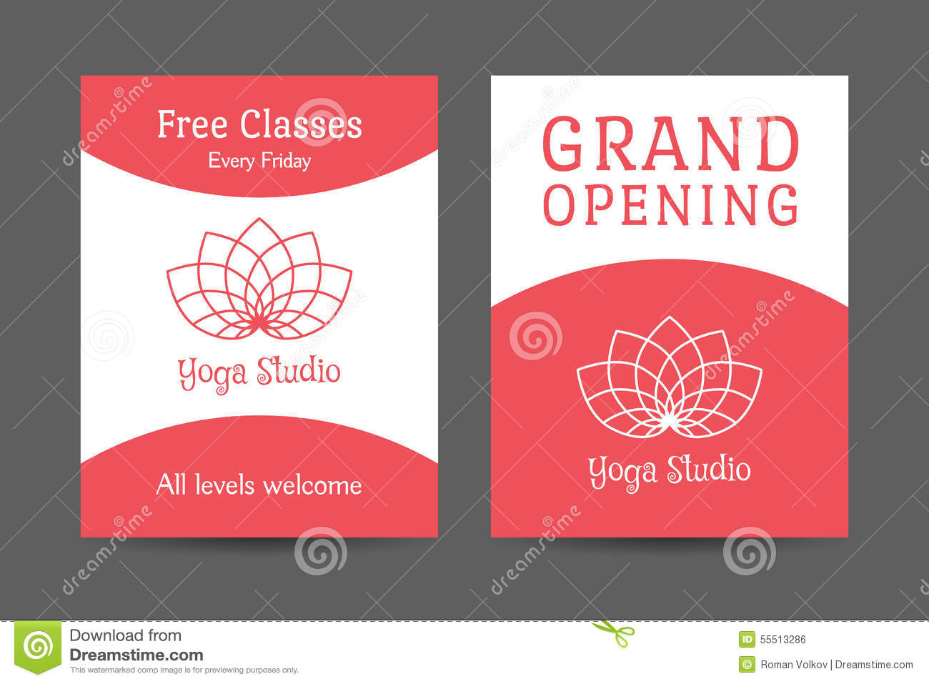 Template Of Yoga Brochure Stock Vector Illustration Of Corporate