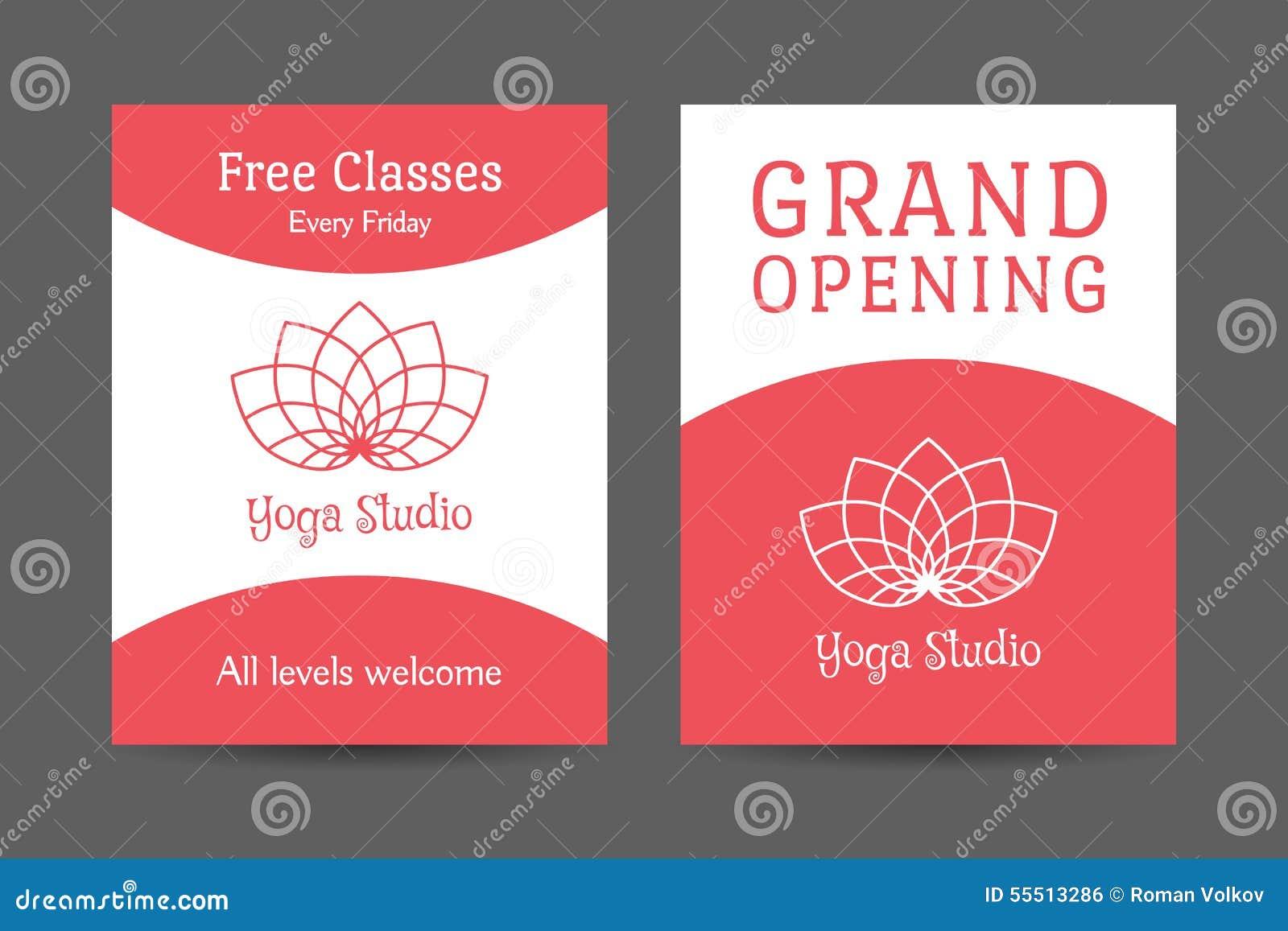yoga brochure design