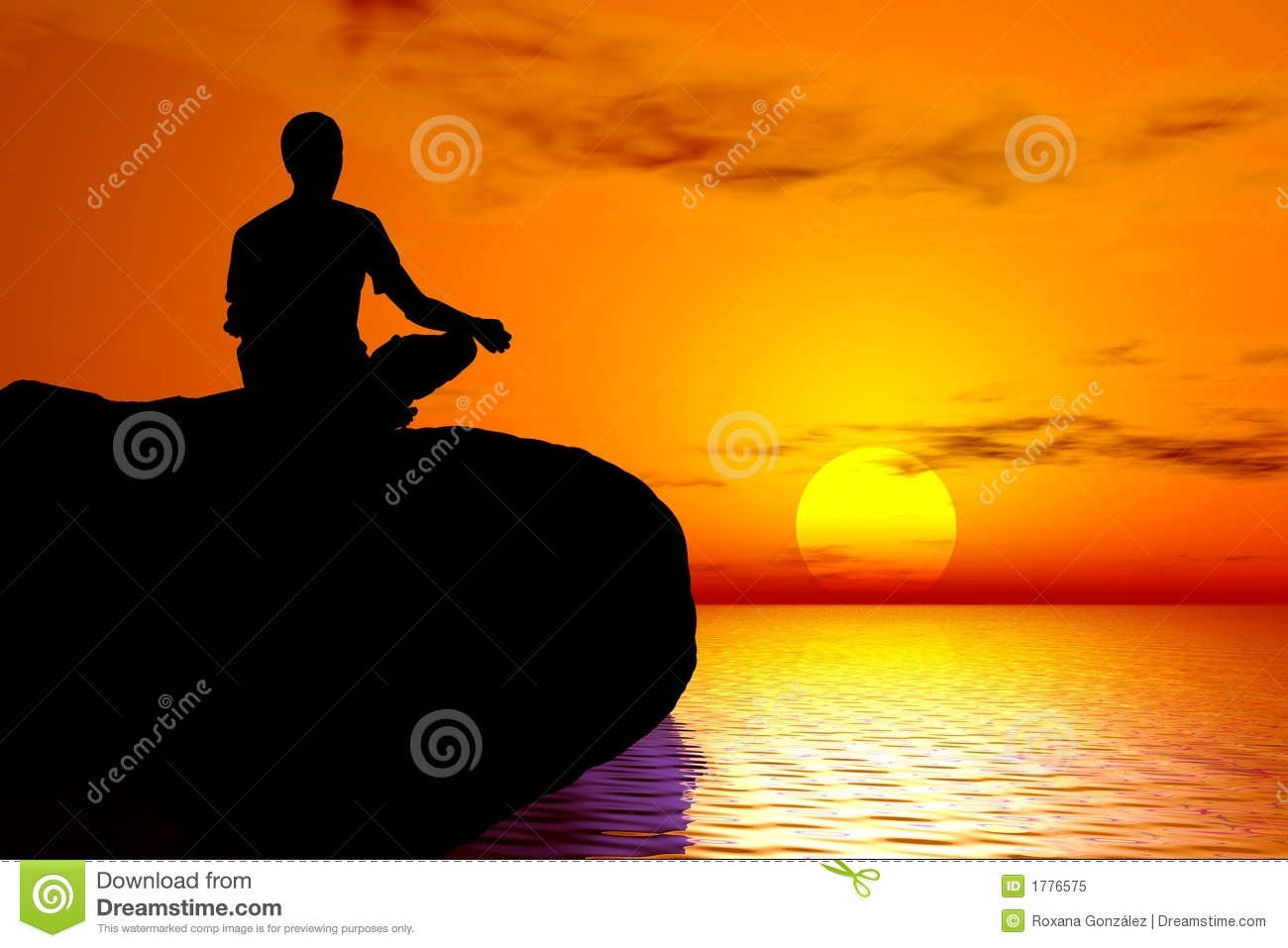 Royalty Free Images Download Yoga Sunset meditation