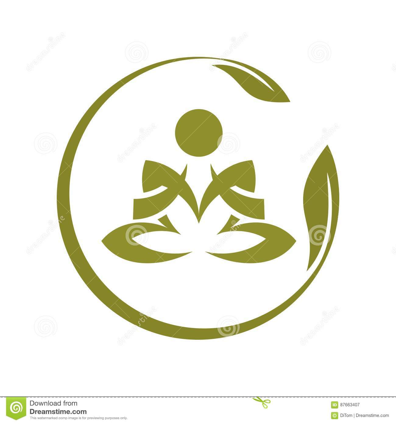 Yoga Symbol Stock Vector Illustration Of Relax People 87663407