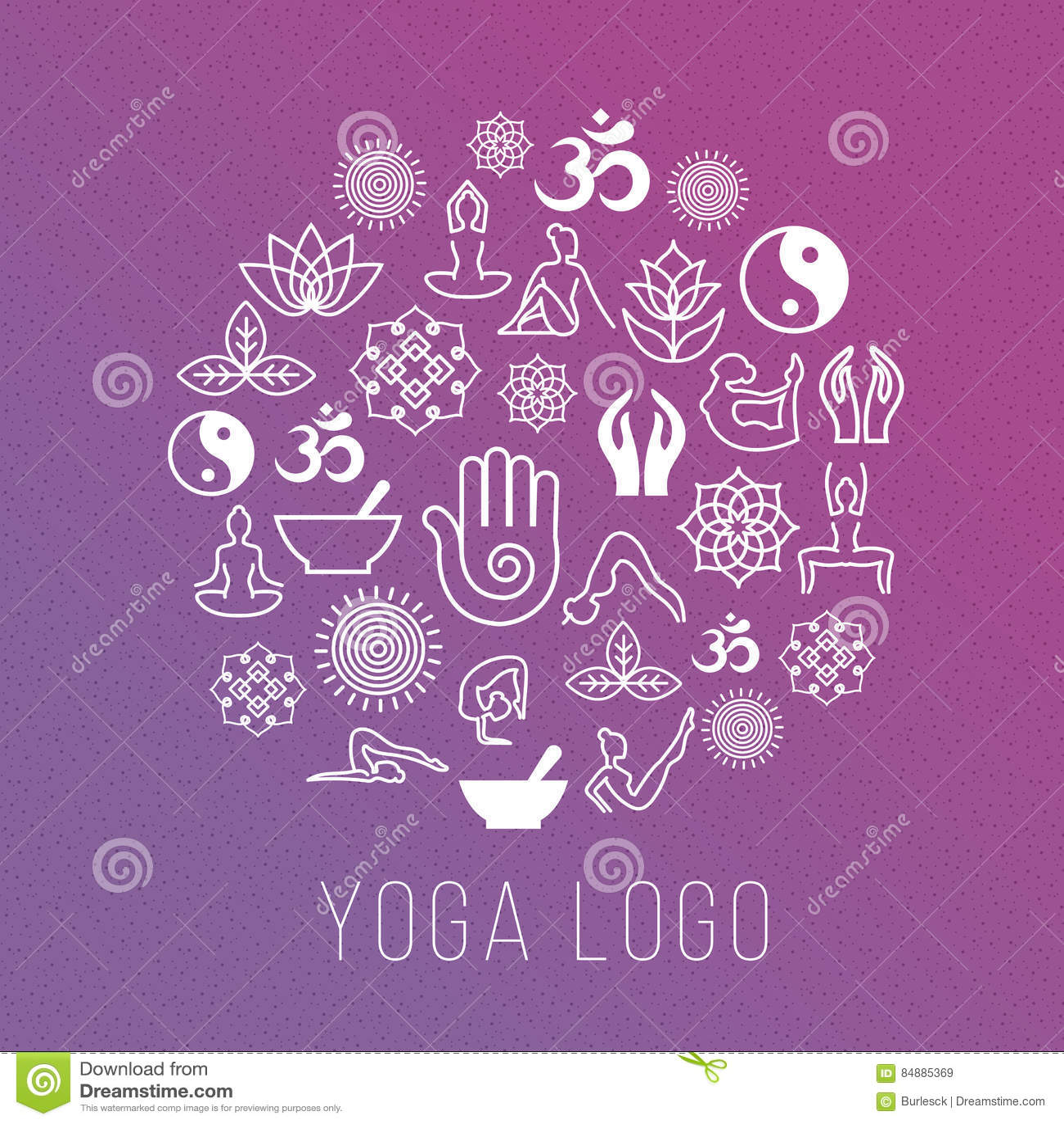 Spiritual symbols images images symbol and sign ideas spiritual harmony and balance icons yoga symbols zen buddhism yoga symbols in round label shape vector biocorpaavc