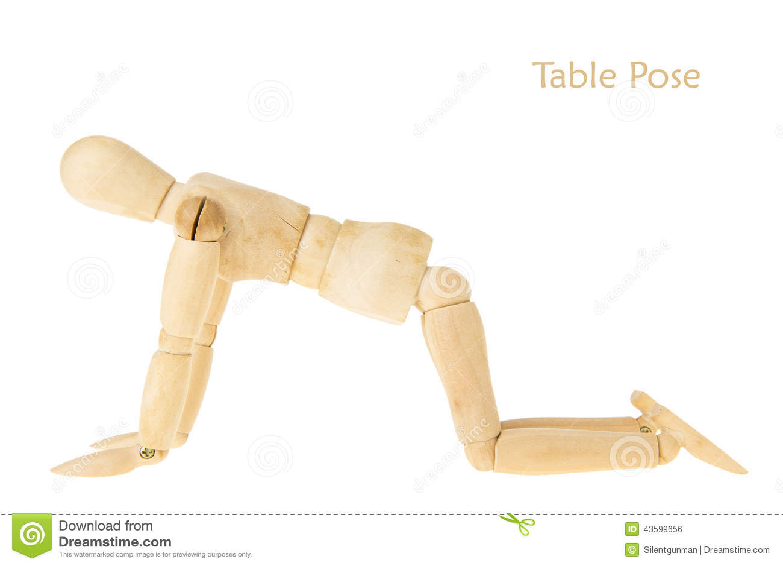 Yoga table pose stock illustration image 43599656 for Table yoga pose