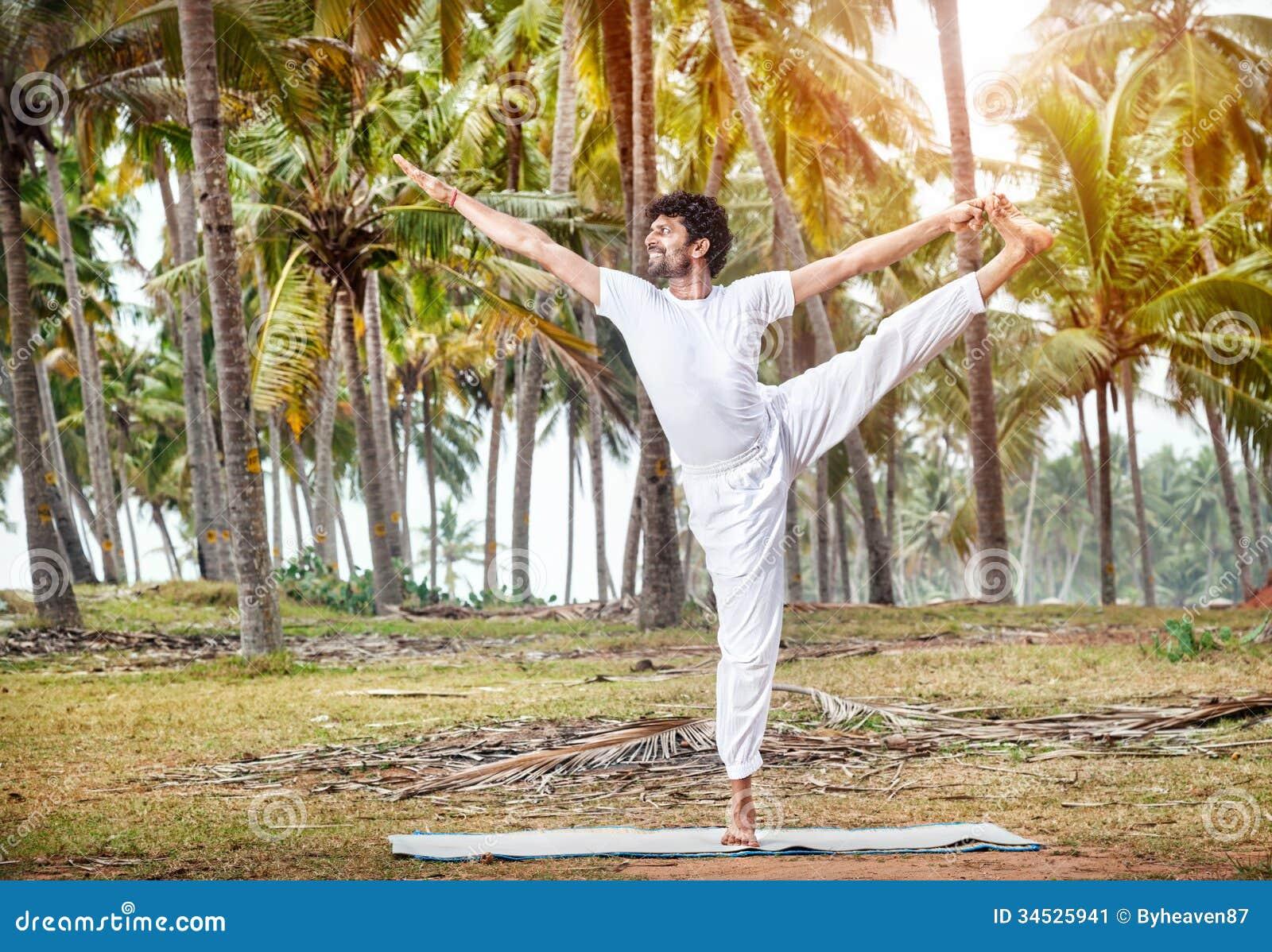 Yoga Meditation Pose Yoga in tropical India...