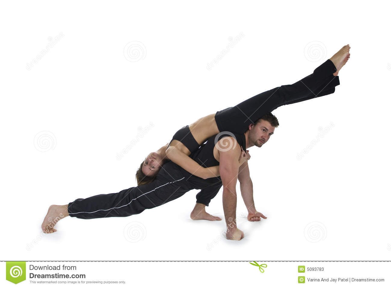 Yoga For Two - Series Stock Photos - Image: 5093783