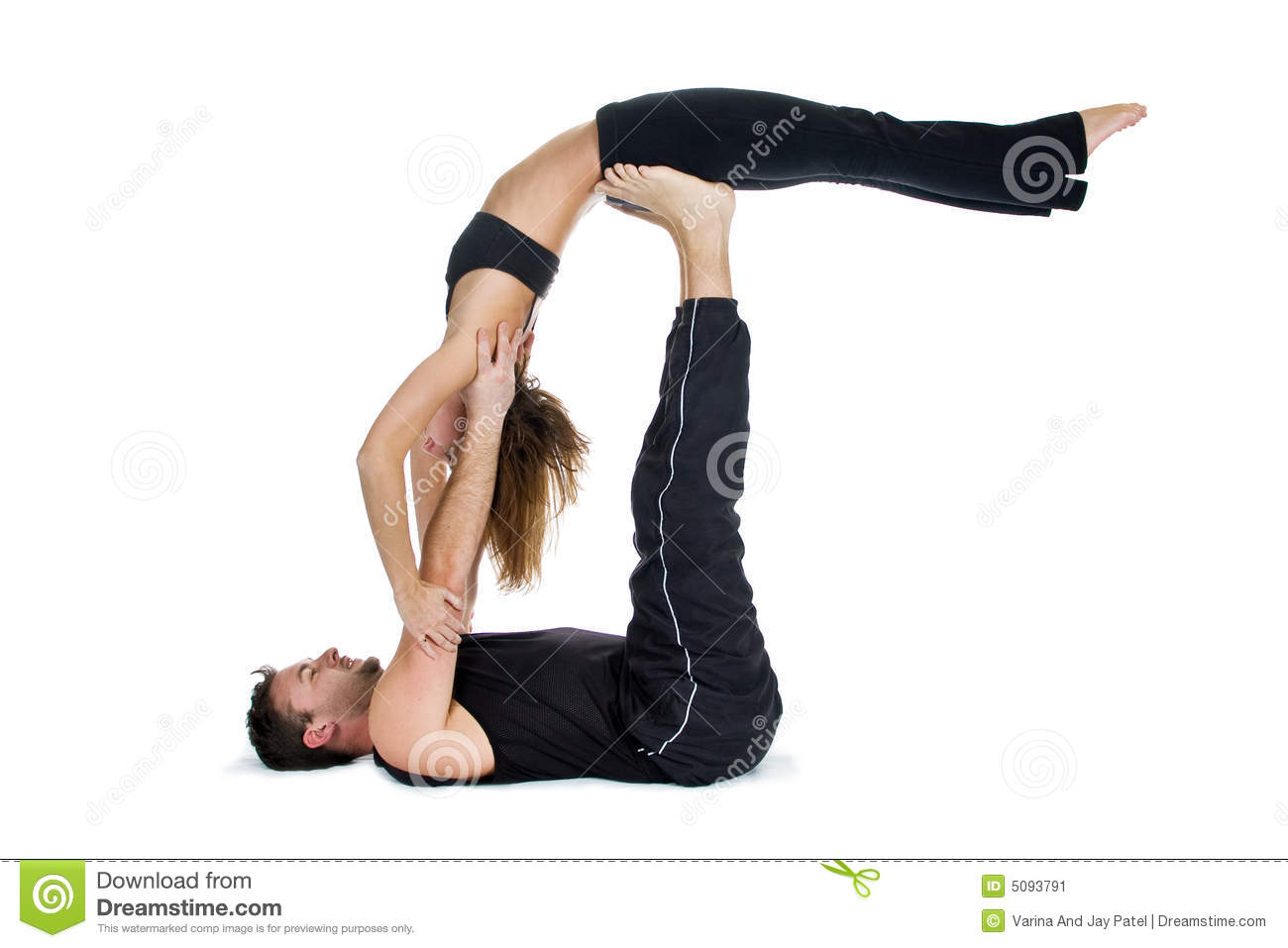 Yoga For Two Series Stock Image Image 5093791
