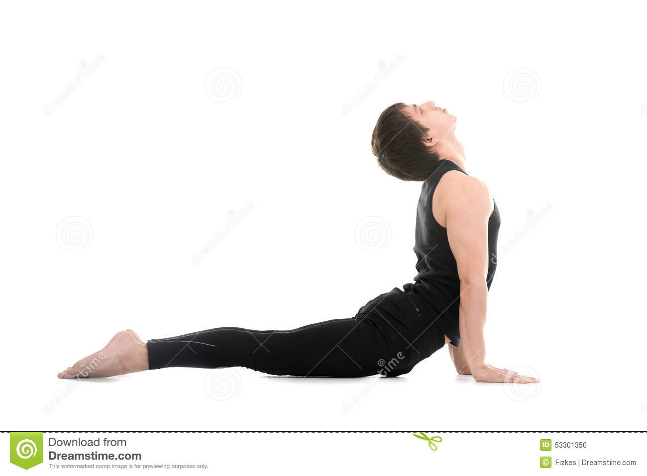 Yoga Upward Facing Dog Pose Stock Photo - Image of bend ...