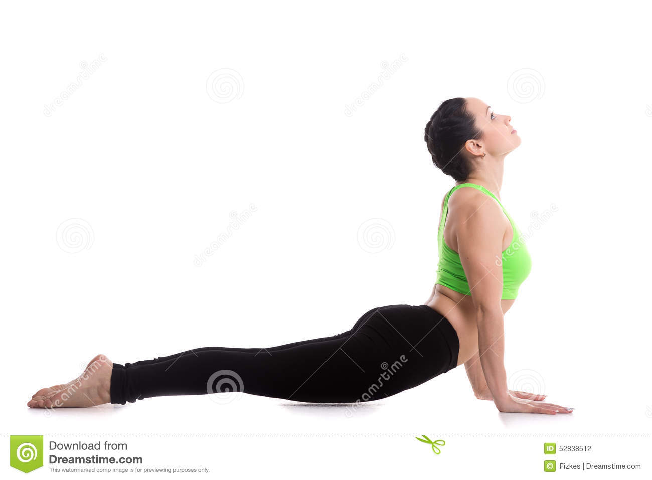 Yoga Upward Facing Dog Pose Stock Photo - Image of loss ...