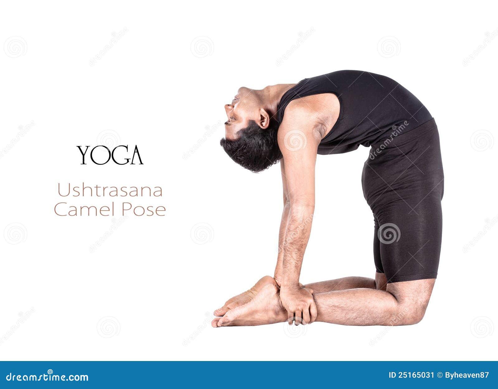 Yoga Ushtrasana Camel Pose Stock Image Of Cloth