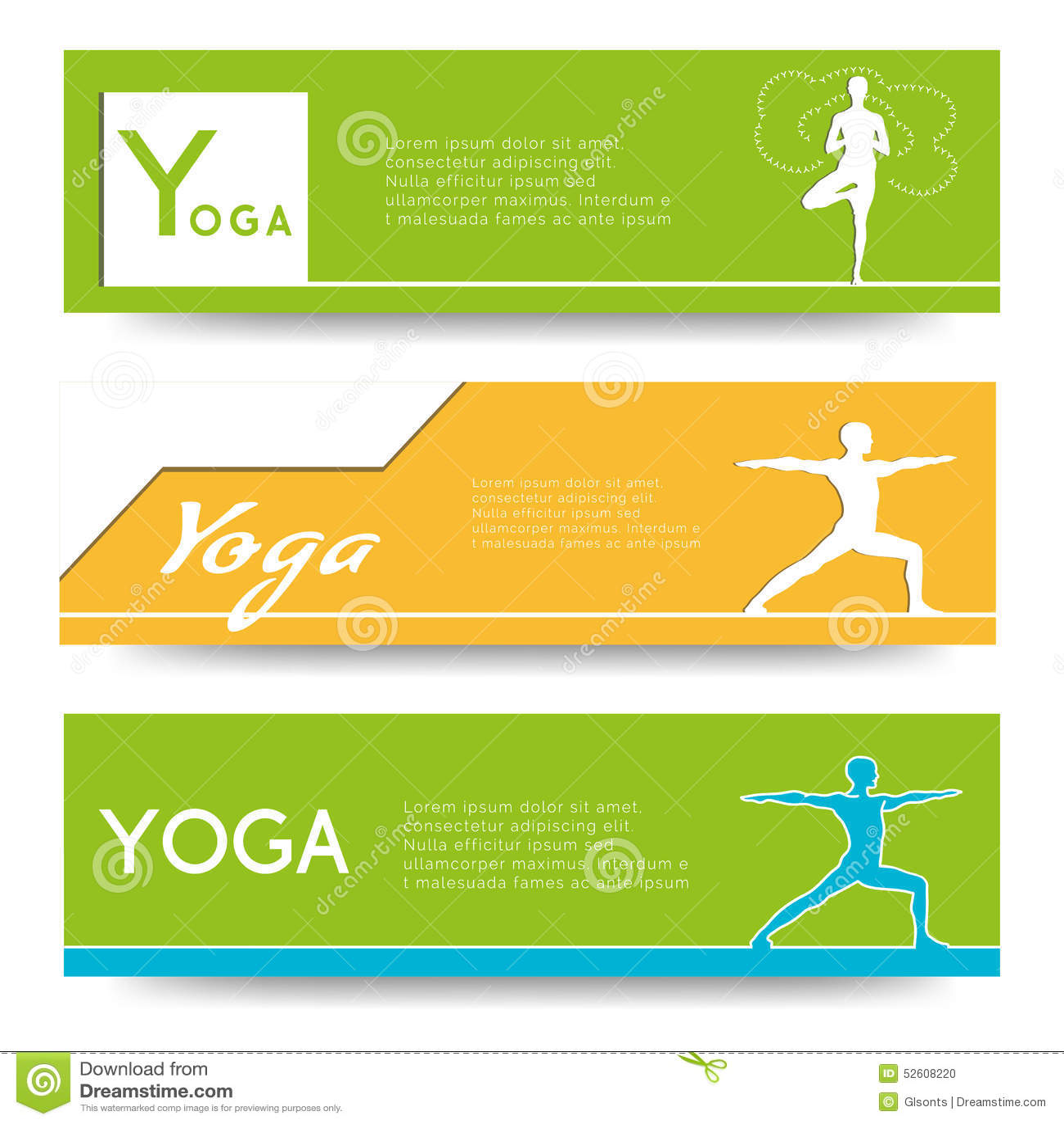 Yoga Vector Banner Professional Templates Or Design For Studio Website Magazine Publishing Print Presentation