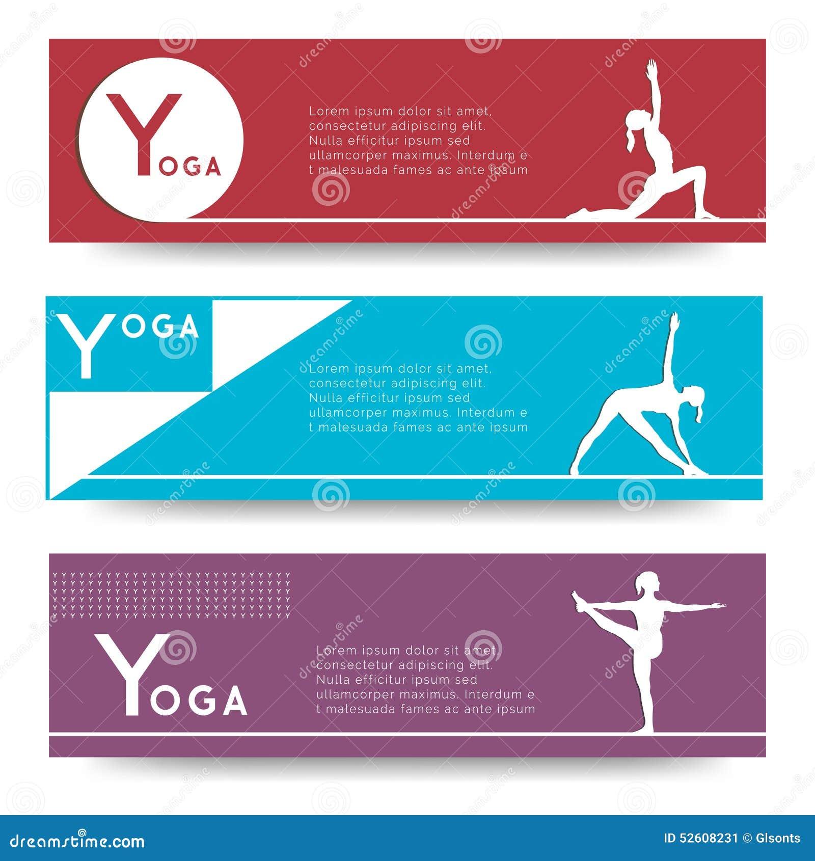 Yoga Vector Banner Stock Illustration Of Creative