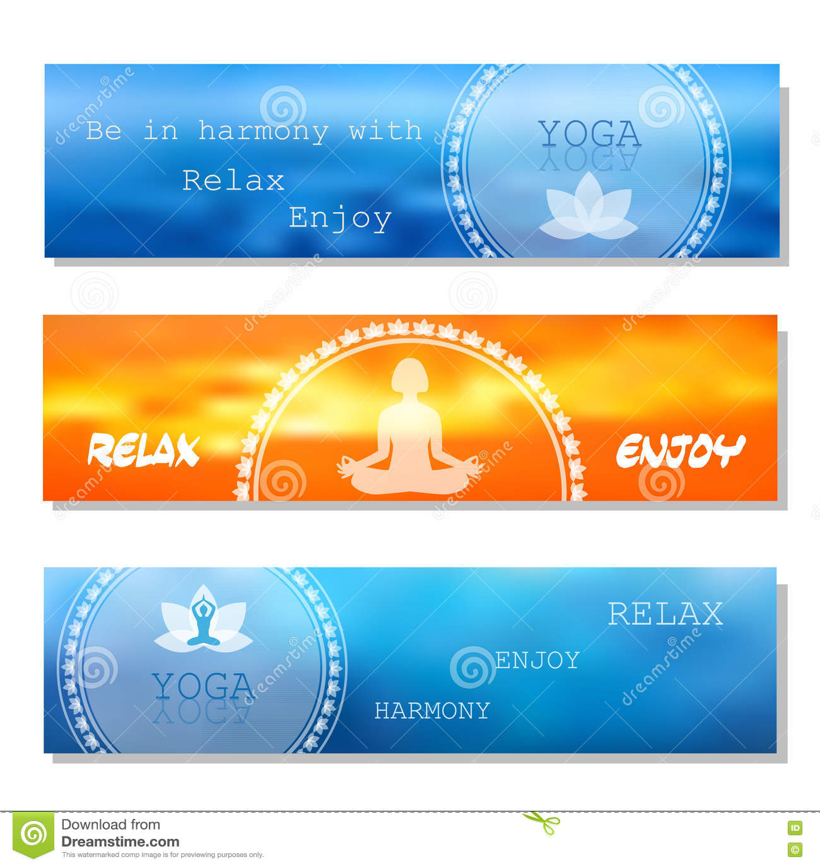 yoga vector banner stock vector illustration of advertisement