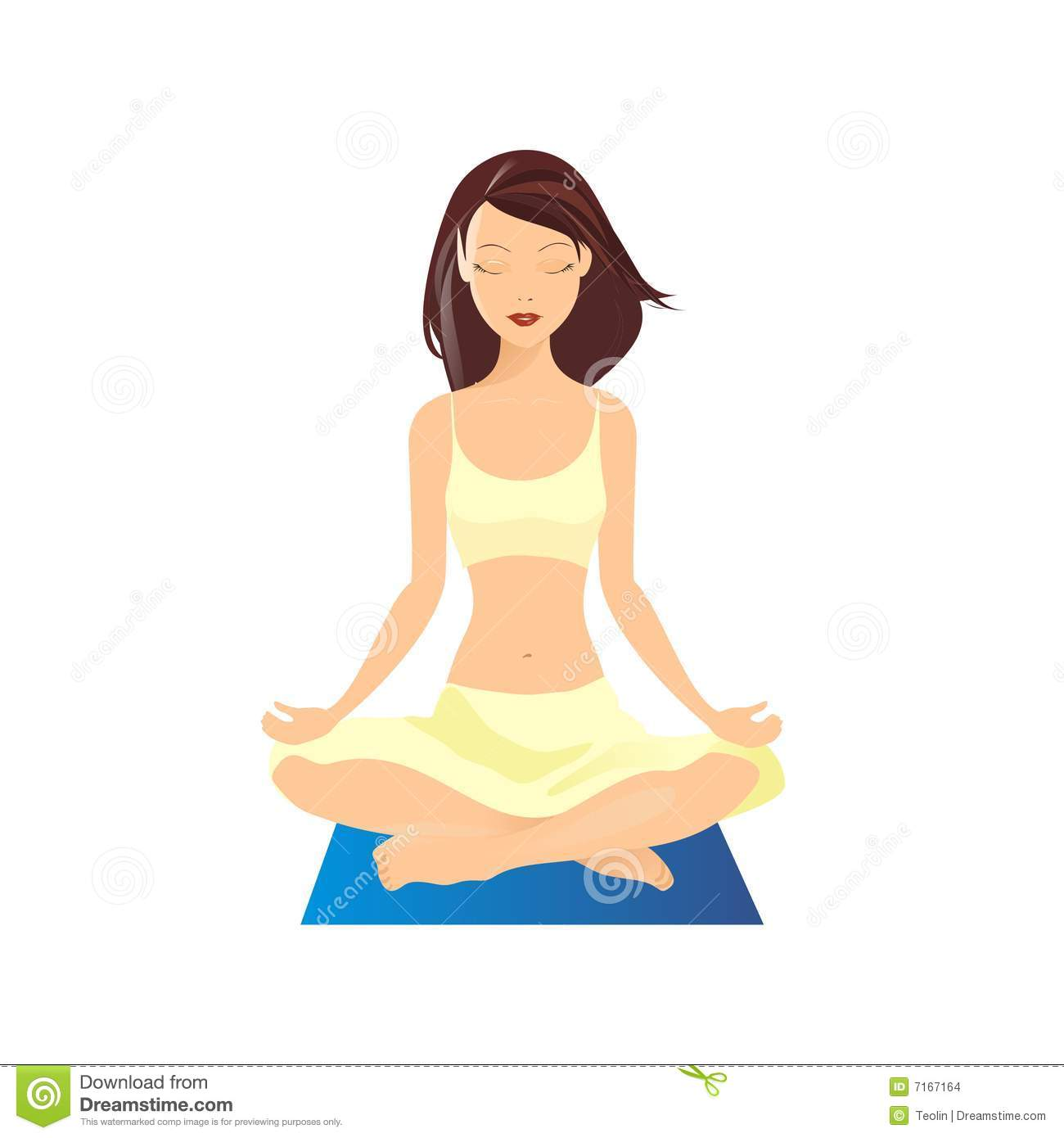 Yoga Vector Illustration Stock Images - Image: 7167164