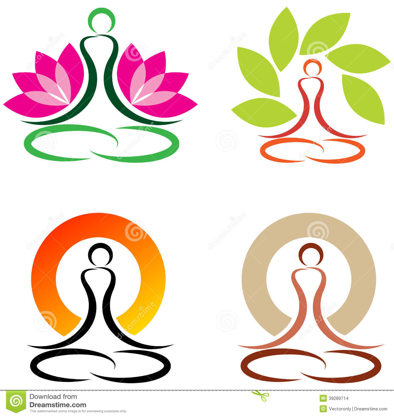 Yoga stock vector. Image of logo, buddhism, lotus, idea ...