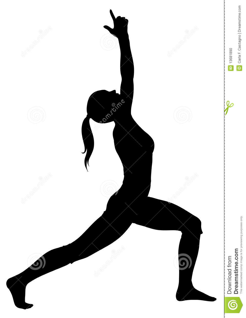 Warrior Pose Yoga Clipart Images & Pictures - Becuo