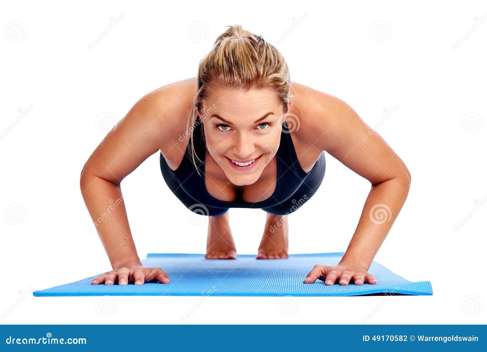 yoga women isolated stock photo image 49170582