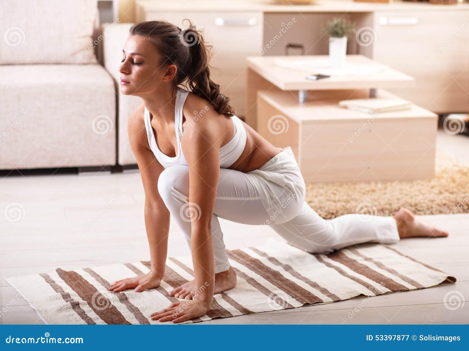 Yoga stock photo image 53397877 for Living room yoga timetable