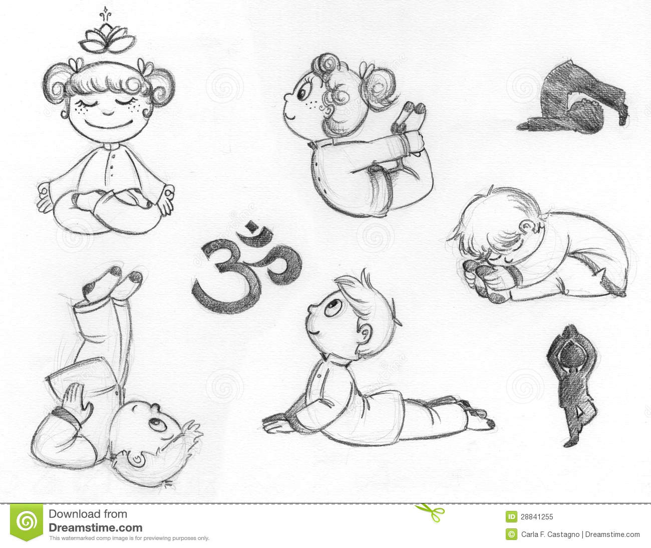 Child Pose Coloring Pages