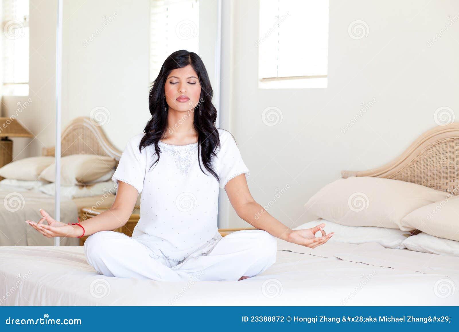 Yogameditation på underlag