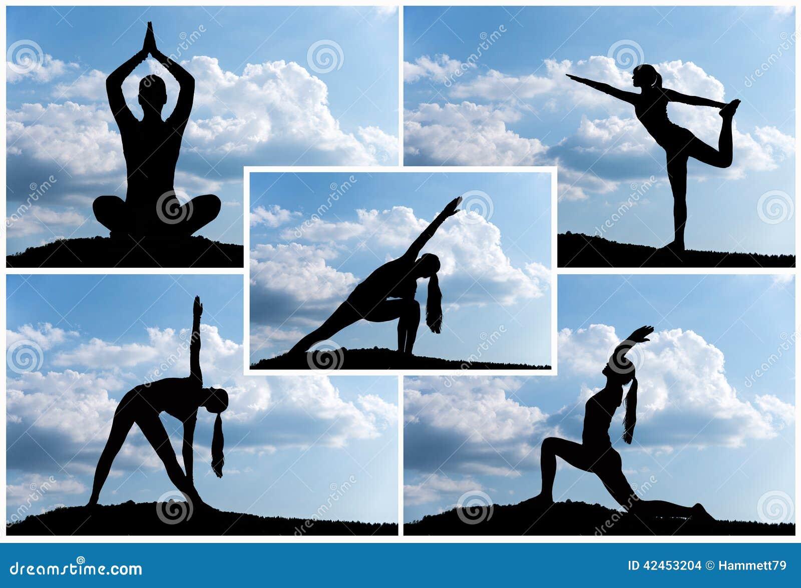 Yogaschattenbild