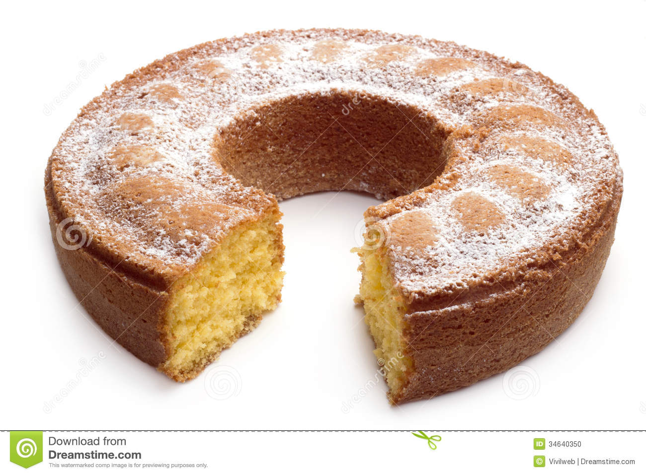 Cake With Icing Sugar Recipe : Yoghurt Cake With Icing Sugar Stock Photo - Image: 34640350