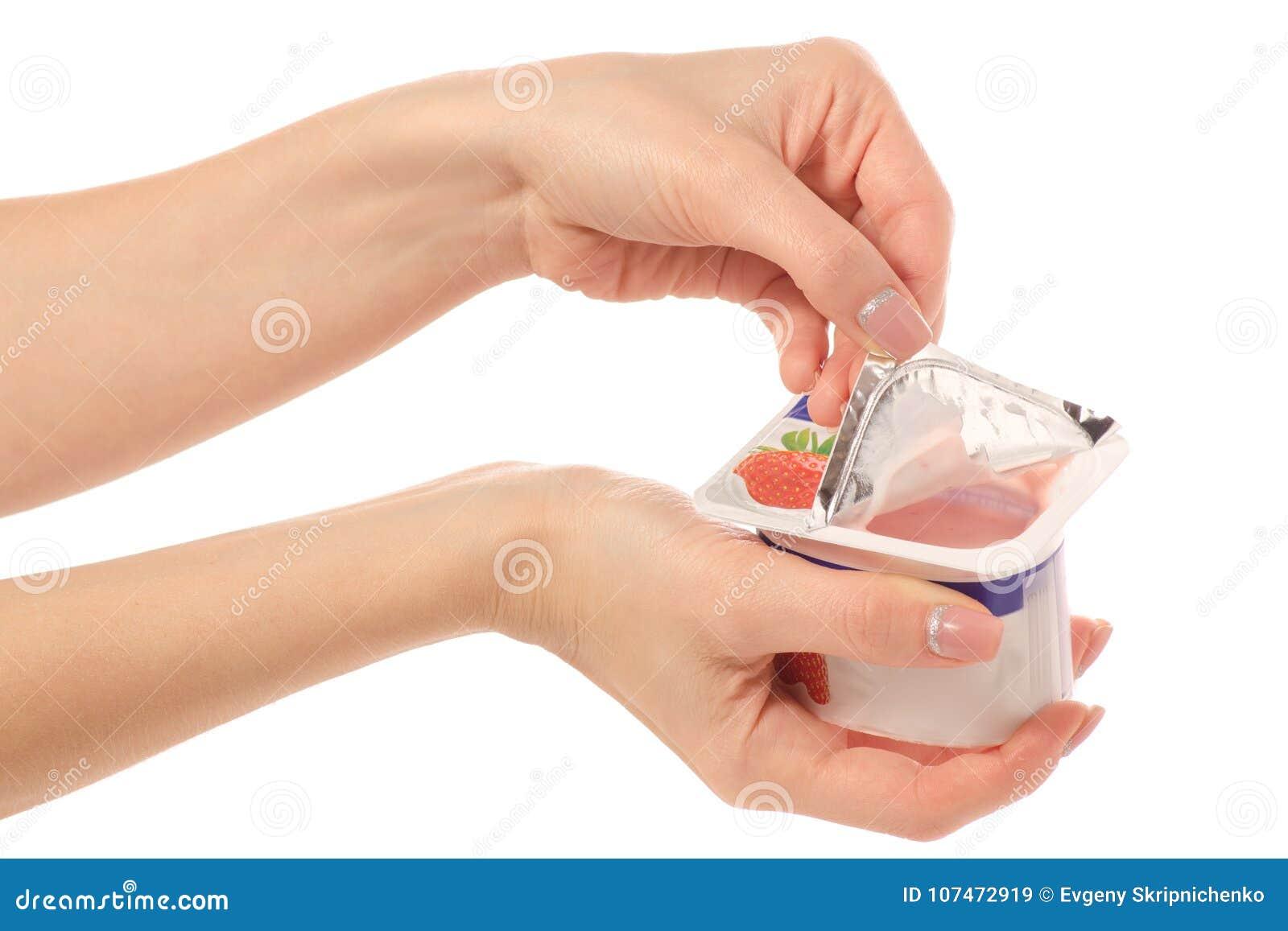 Yoghurt i hand