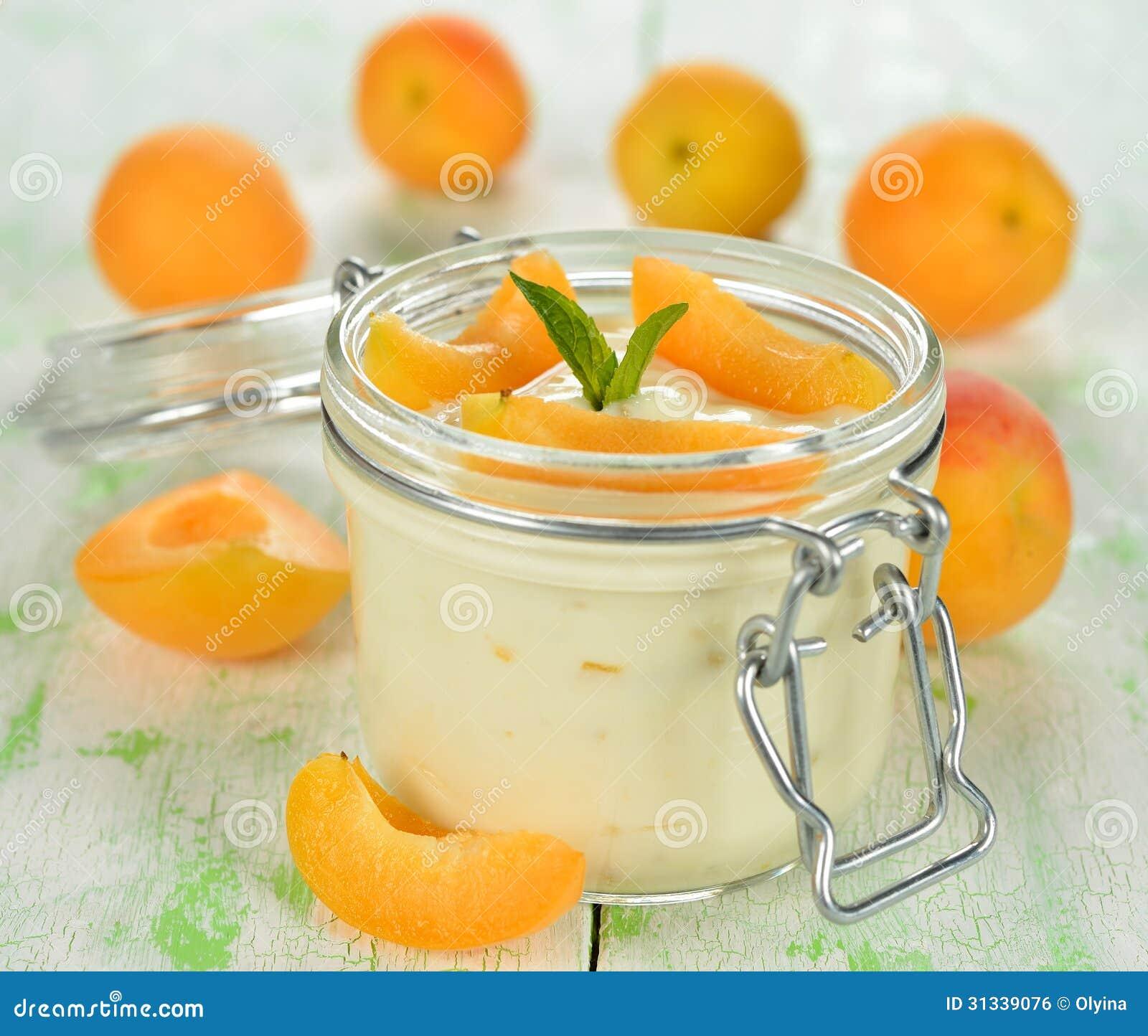Yoghurt med aprikors