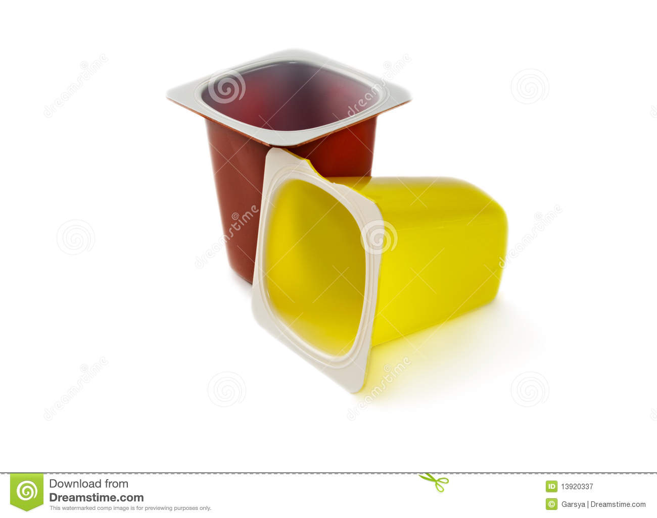 Yoghurt Pots Royalty Free Stock Photography - Image: 13920337