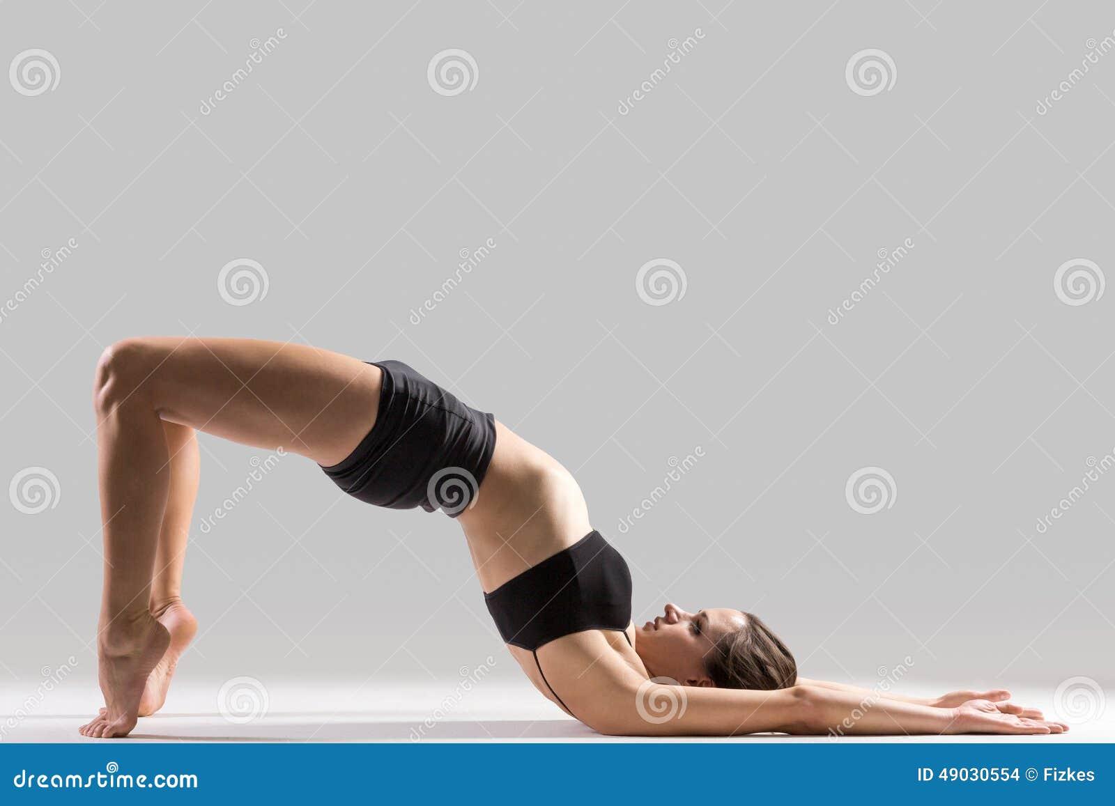 Download Yogi Gymnast Girl Doing Exercise For Spine Stock Photo - Image of graceful, lifestyle: 49030554