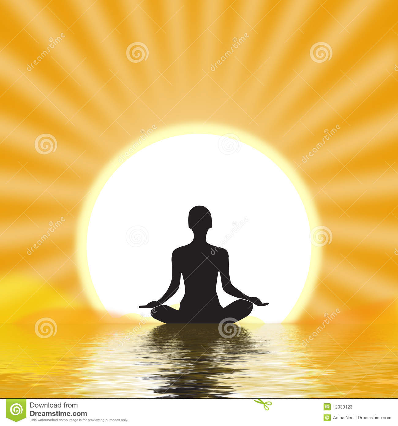 Yogi Meditating Stock Photos Image 12039123