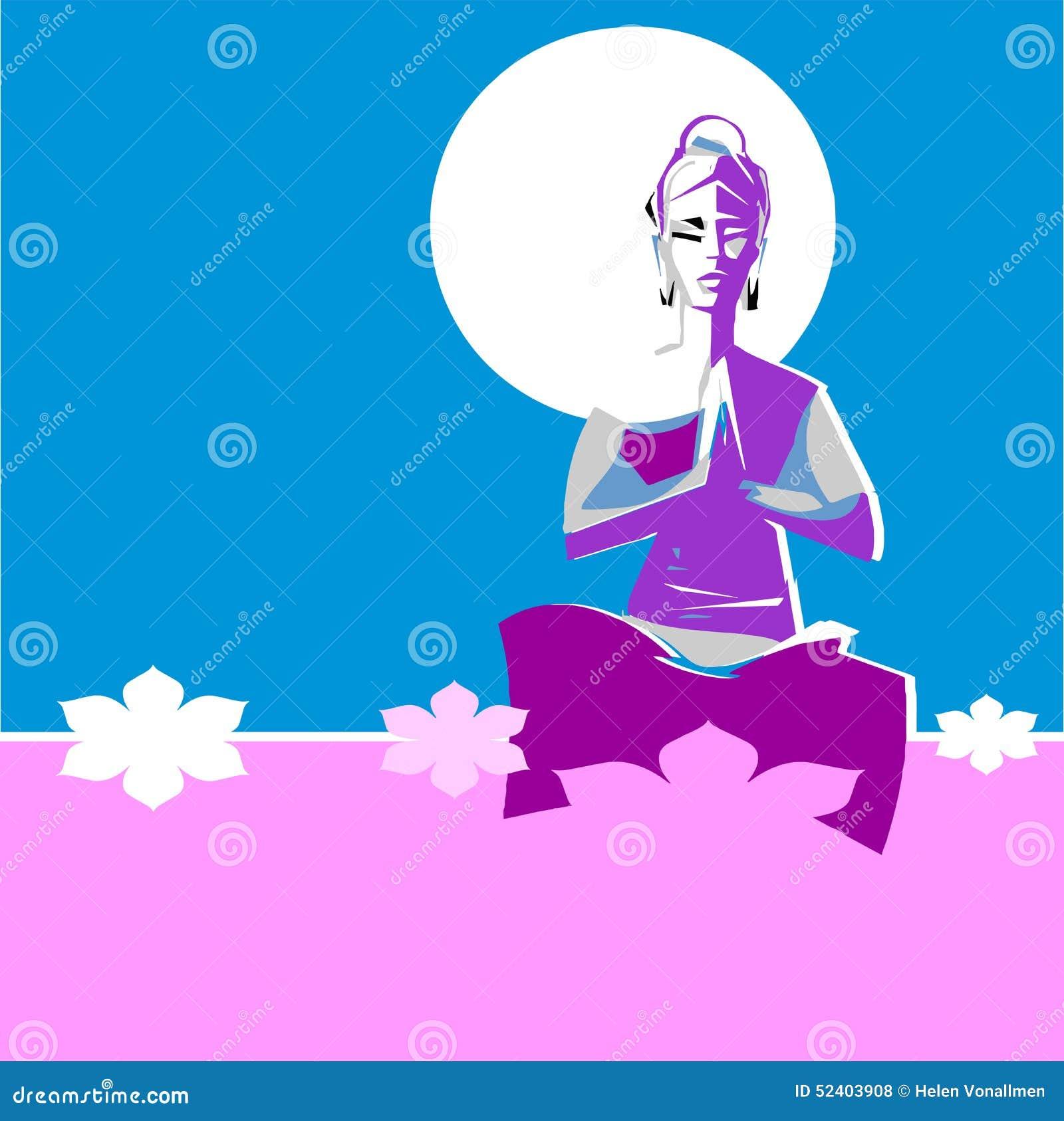 Yogi woman in Yoga position Asana