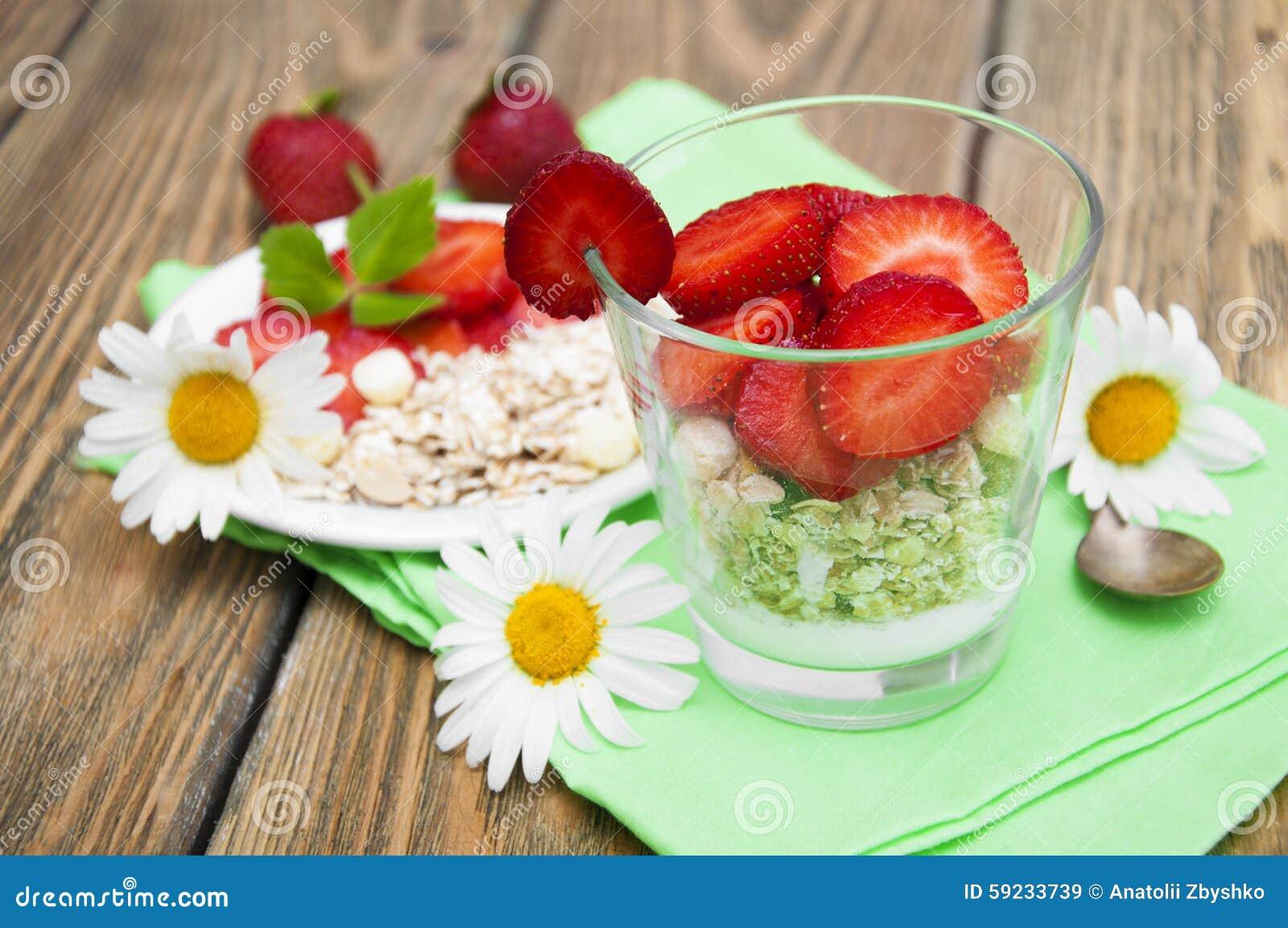 Yogur de la fresa