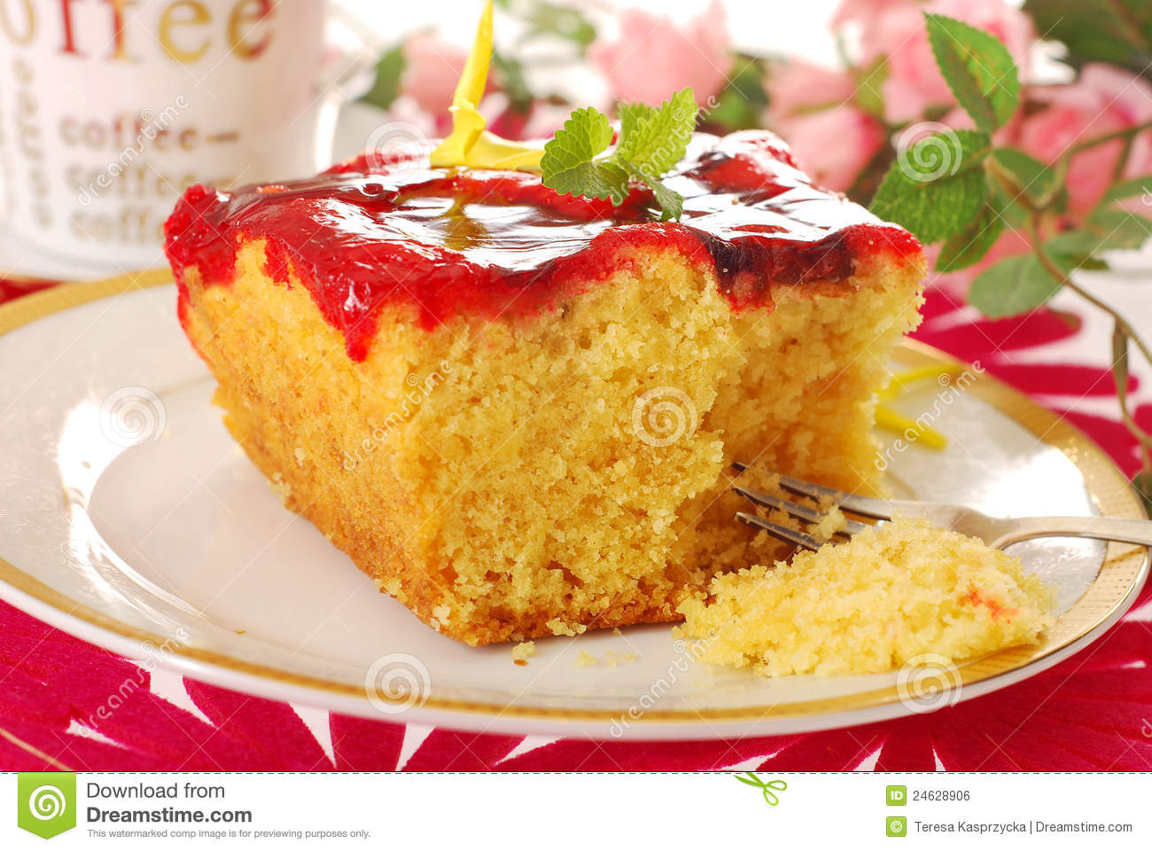 Cake With Fruit Yogurt : Yogurt Cake With Fruit Jelly Royalty Free Stock Image ...