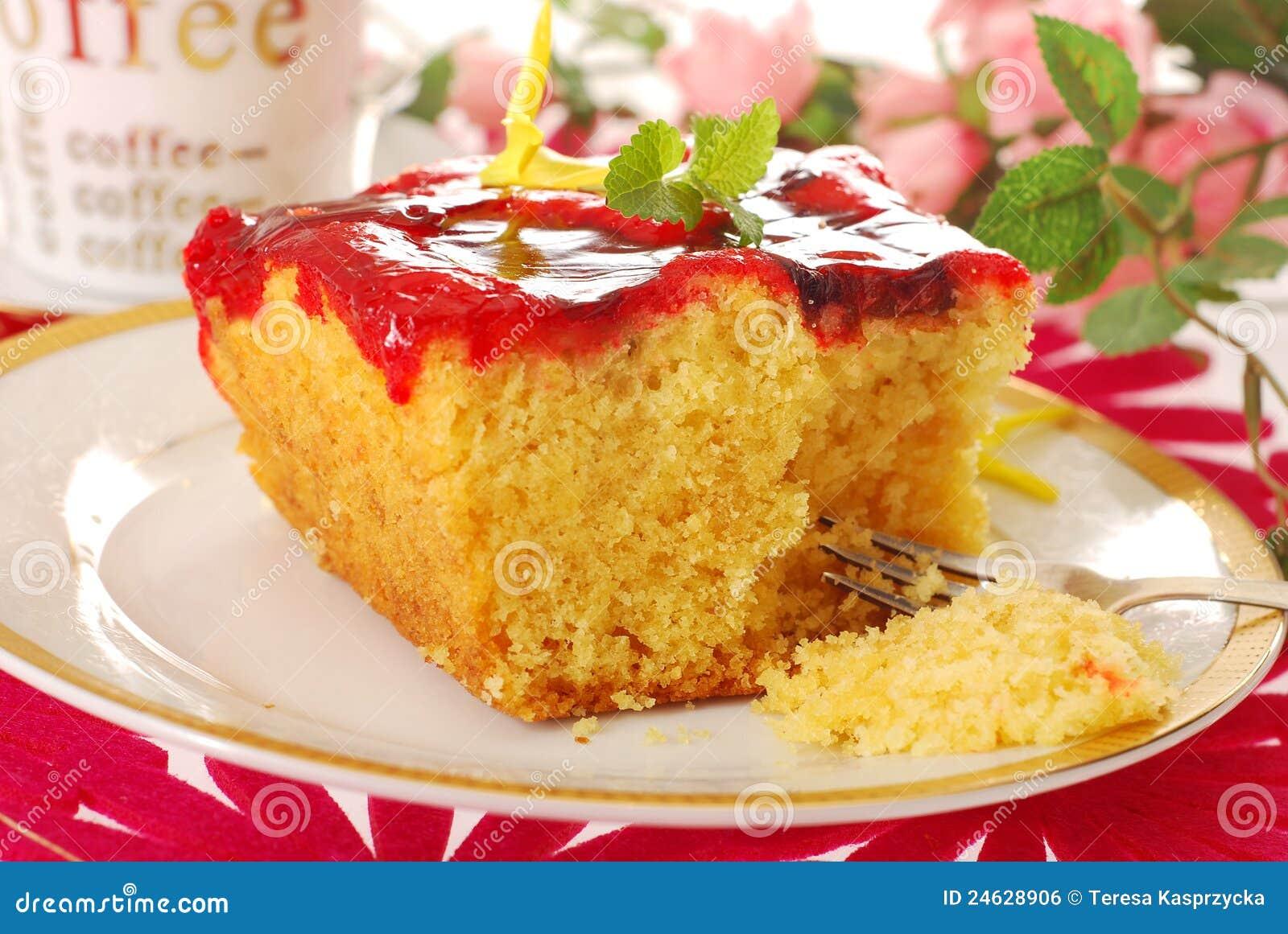 Cake With Fruit Yogurt : Yogurt Cake With Fruit Jelly Royalty Free Stock Image ...