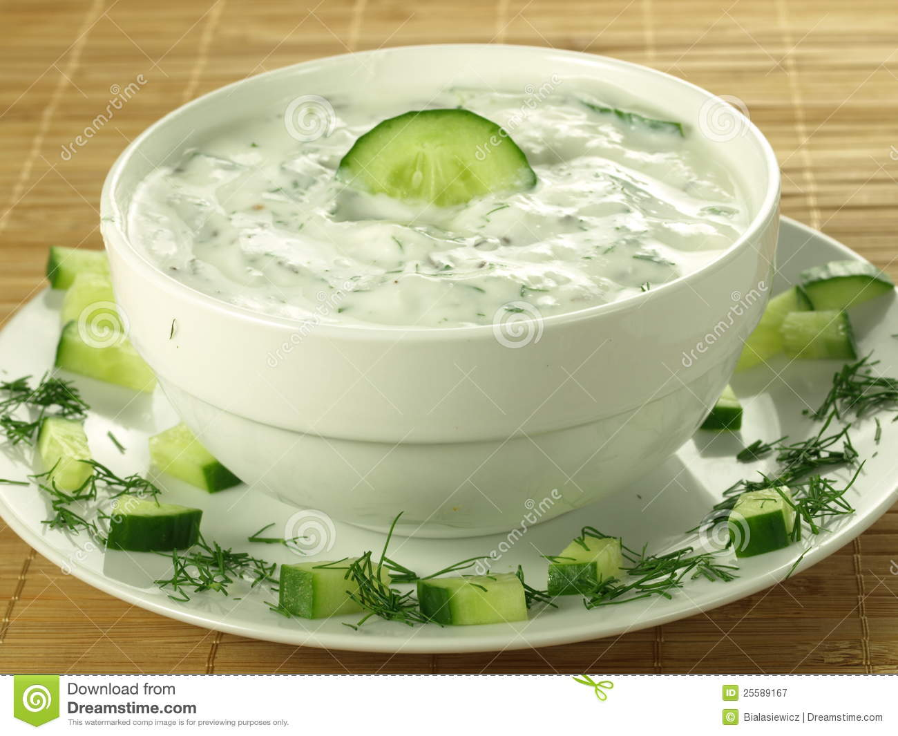 Yogurt And Cucumber Sauce Royalty Free Stock Photography - Image ...