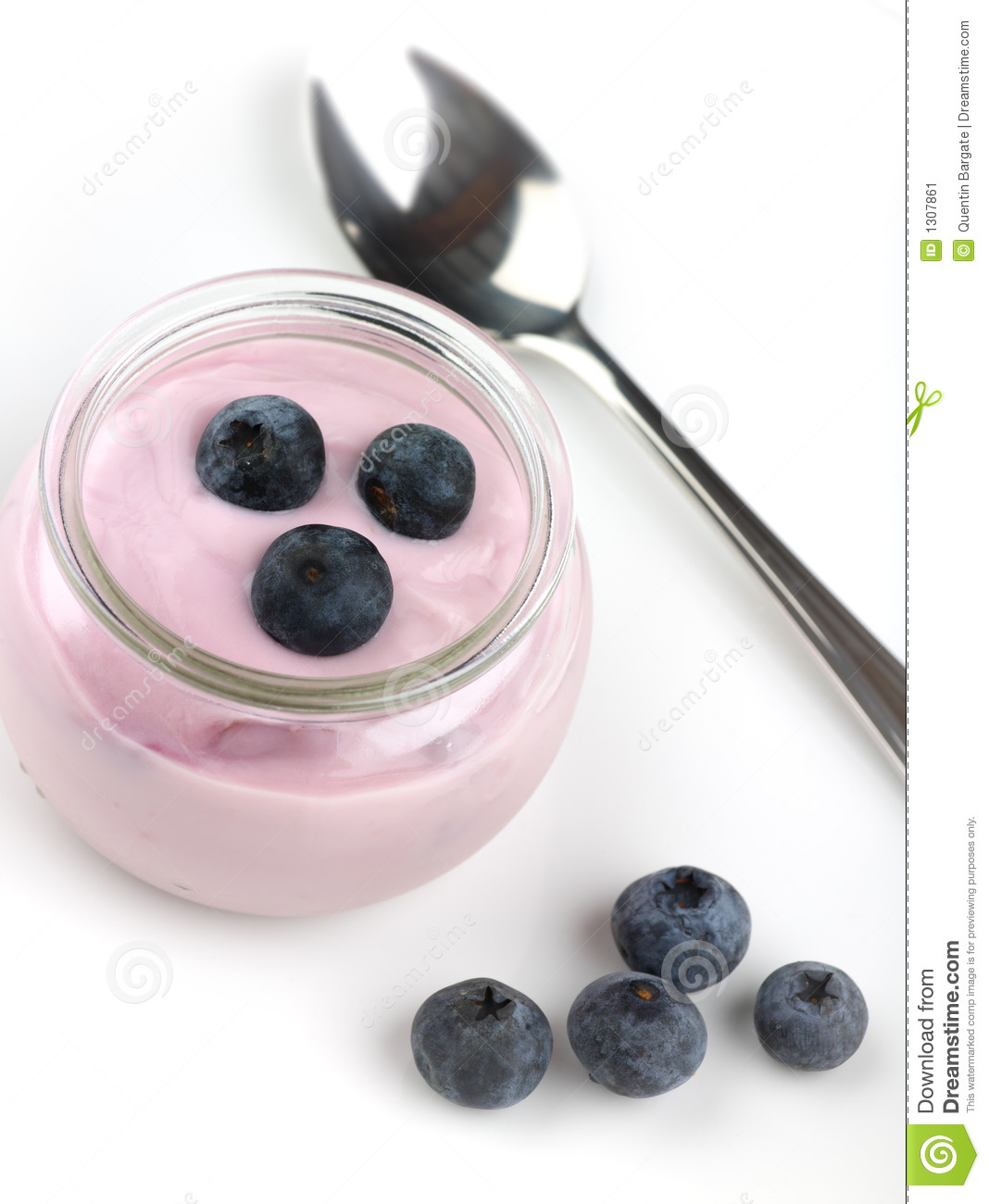 Yogurt pot with blueberry compliment