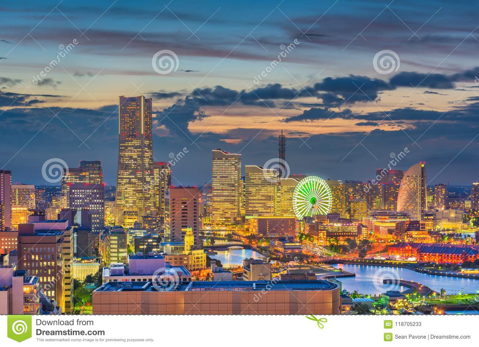 Yokohama, Japan City Skyline