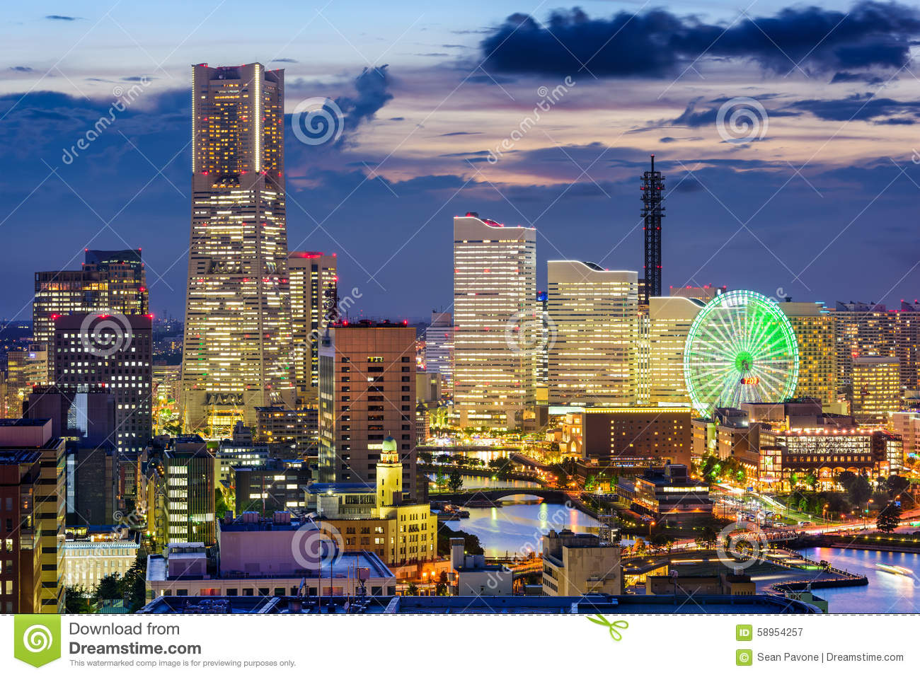 Yokohama Japan  city photos gallery : Yokohama Japan Stock Photo Image: 58954257