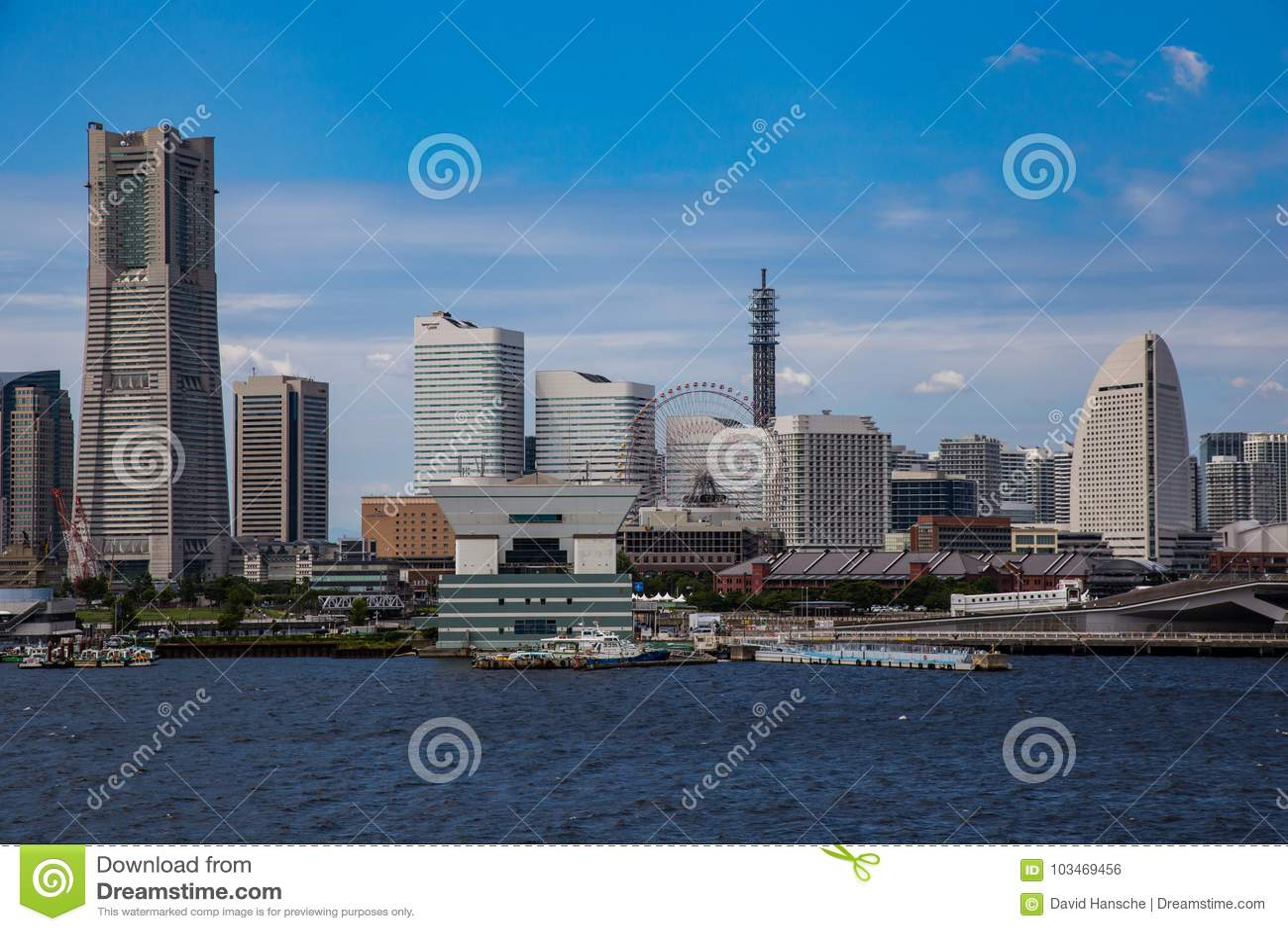 Yokohama skyline from Tokyo Bay 4