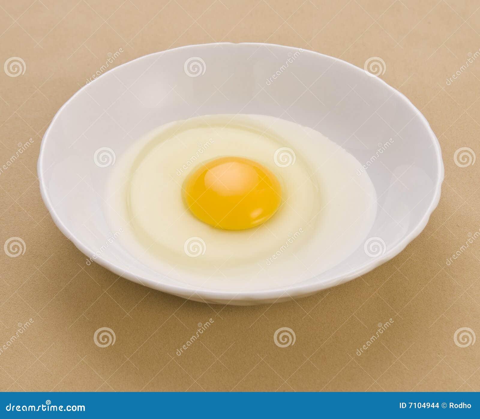 Yolk de ovo e clara de ovos
