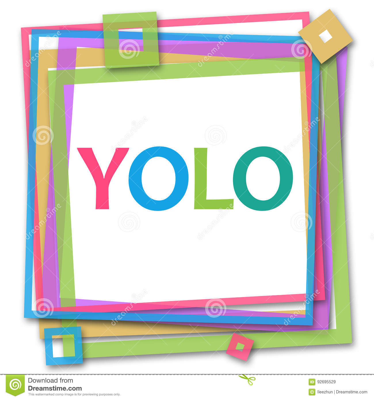 YOLO - You Only Live Once Colorful Frame Stock Illustration