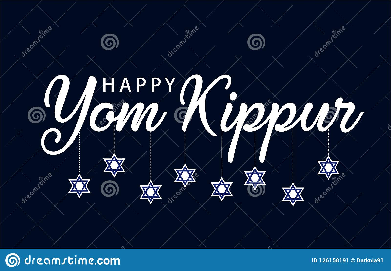 Yom Kippur Greeting Stock Vector Illustration Of Design 126158191