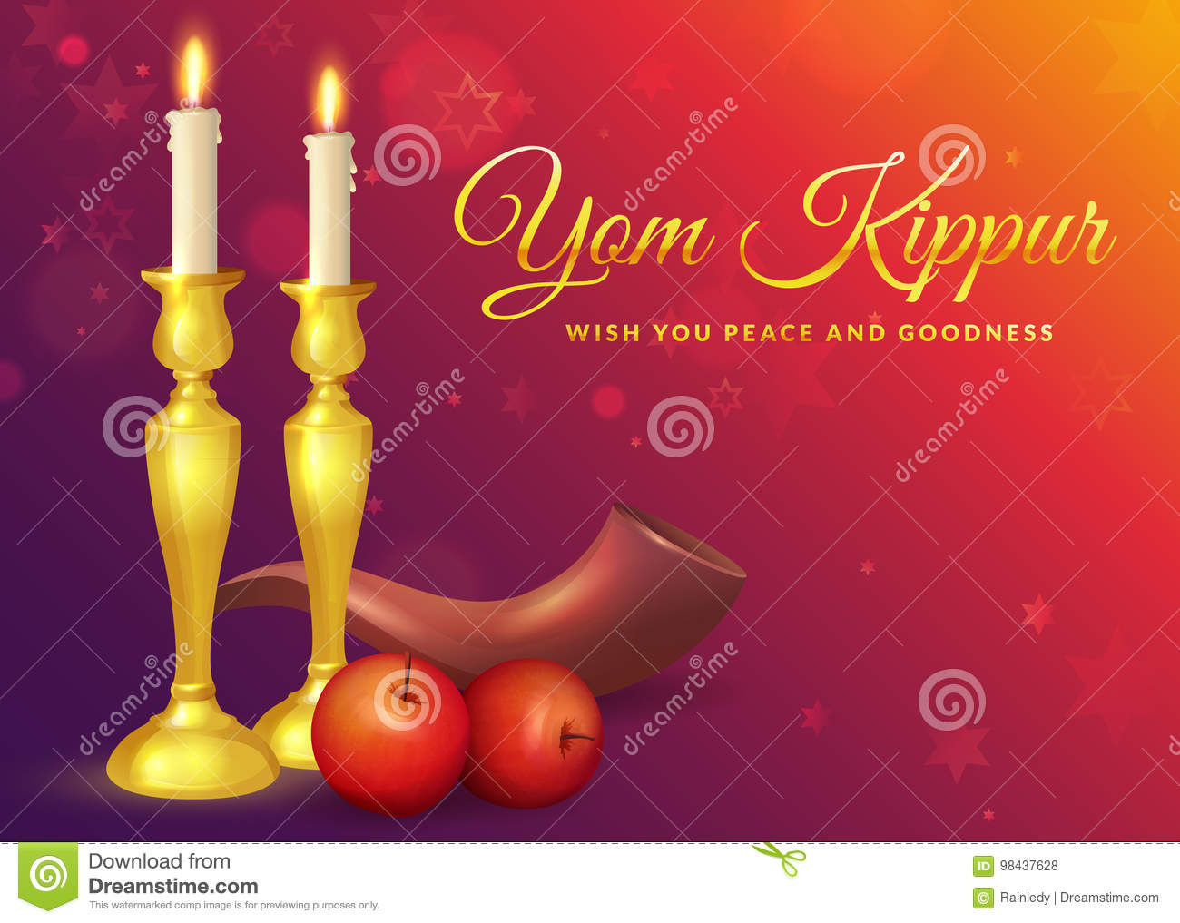 Yom kippur greeting card stock vector illustration of horn 98437628 yom kippur greeting card m4hsunfo
