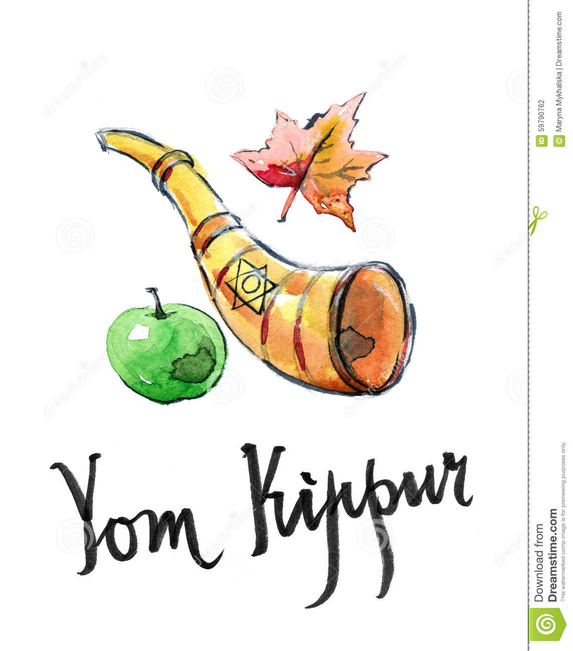 Yom Kippur, Jewish Holiday Stock Vector - Image: 59790762