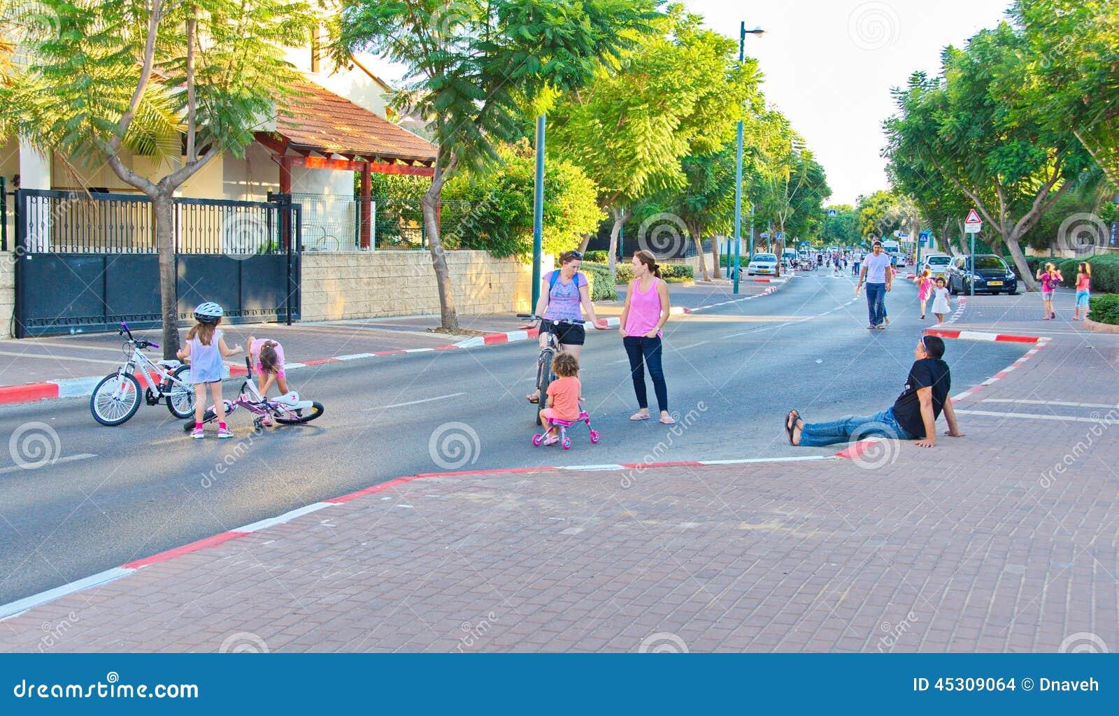 Yom Kippur In Tel Aviv, Israel Editorial Stock Image - Image
