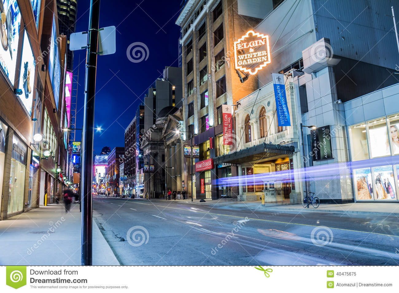 yonge street elgin and winter garden theatres editorial image