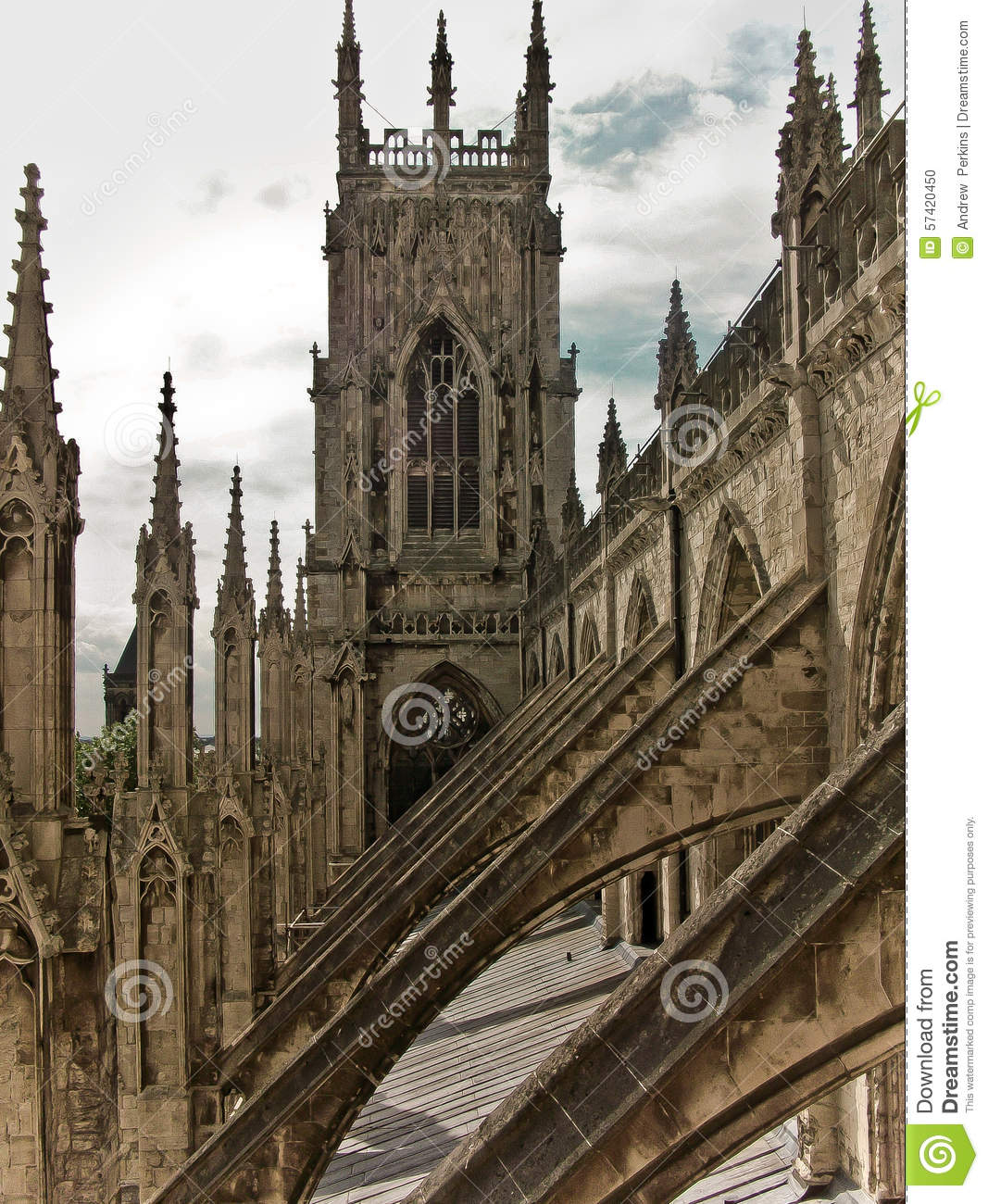 York Minster Abbey Gothic Cathedral Stock Photo Image Of