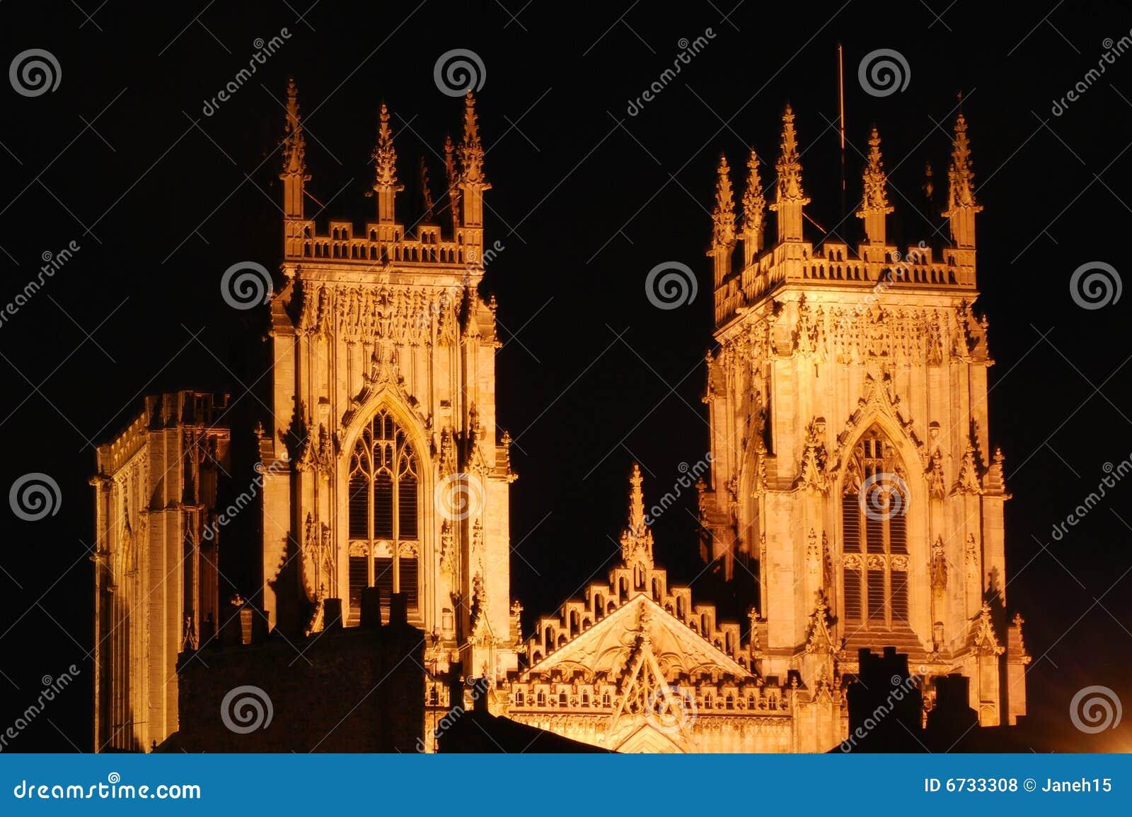 York Minster by night