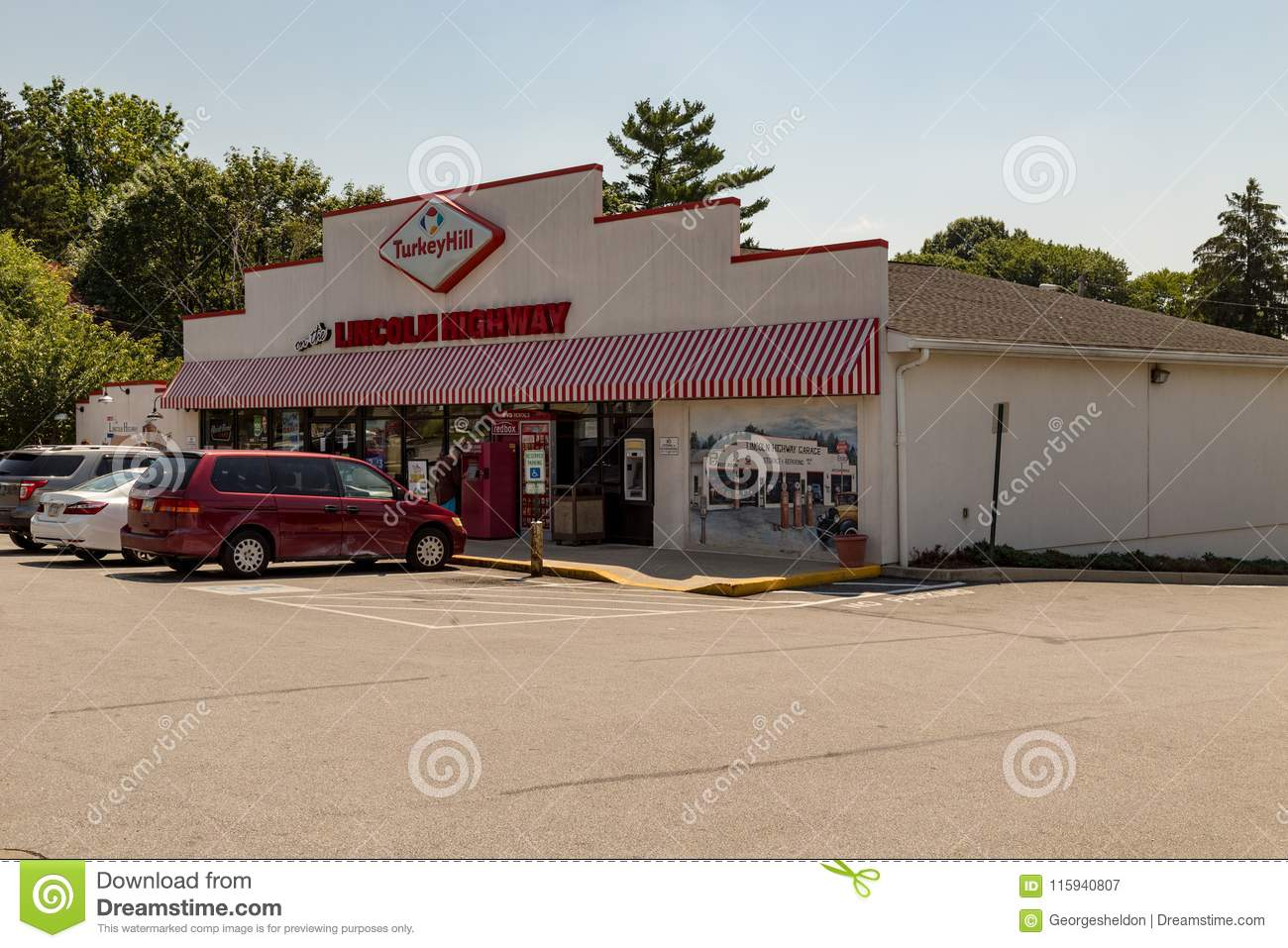 Lincoln Highway Turkey Hill Minit Mart Editorial Photography