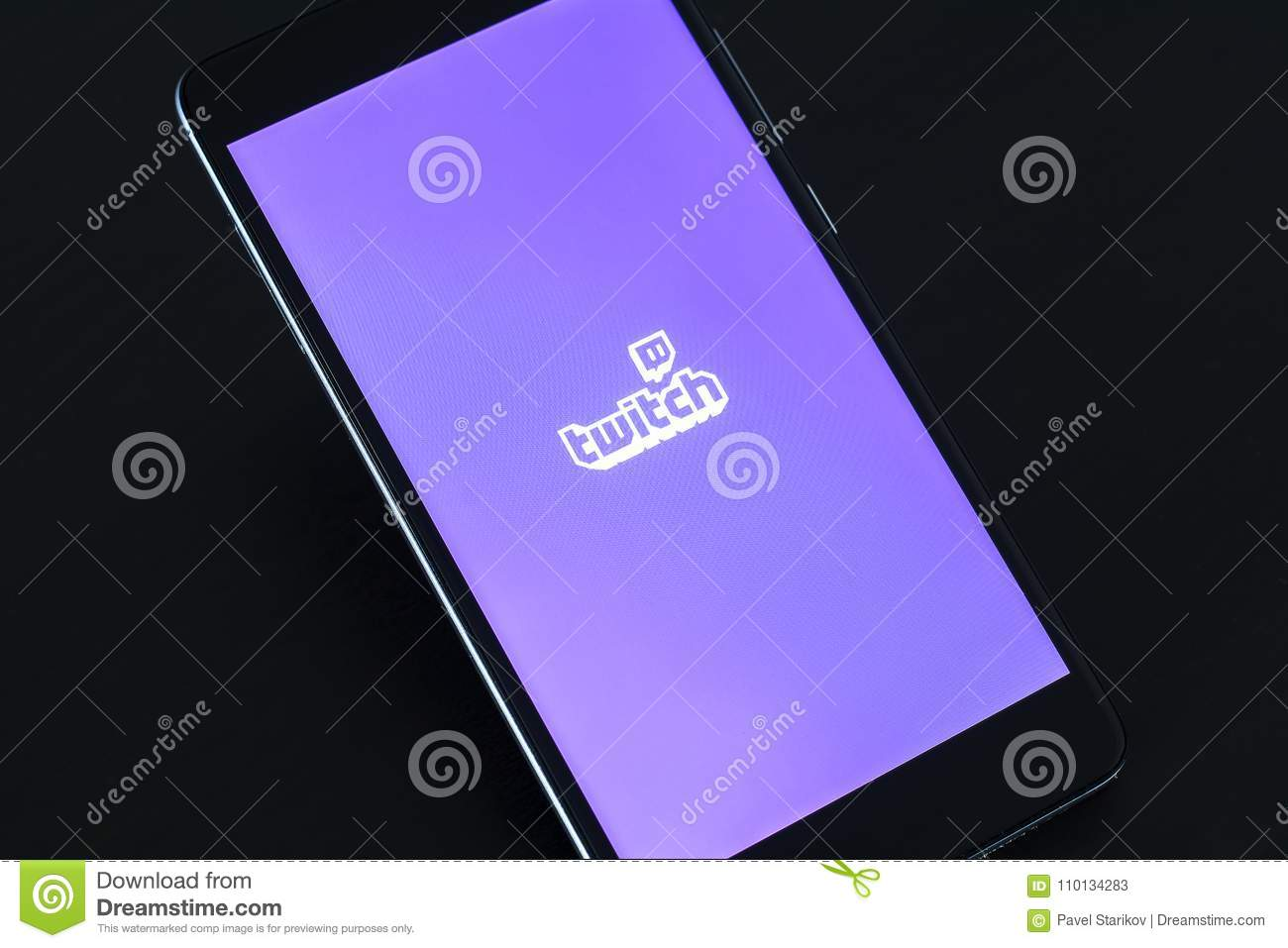Twitch Logo On Smartphone Screen Editorial Stock Photo