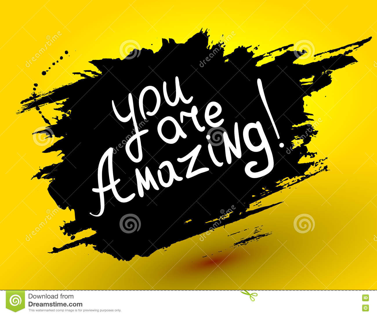 Amazing Motivation: You Are Amazing! .Vector Calligraphic Inspirational Design
